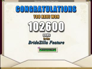Bridezilla Free Spins Prize