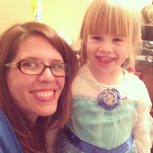 "From earlier tonight: ""I not real Elsa, I just Lucy-Elsa."""