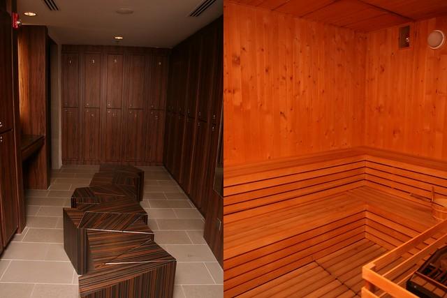 Locker and Sauna rooms