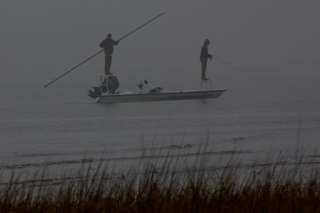 Fort Sumter fishing in the fog