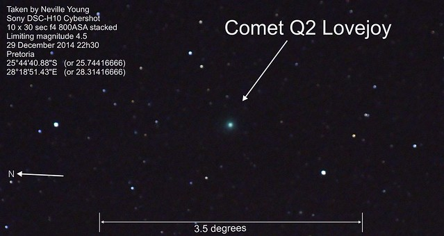 Comet Q2 Lovejoy 29 December 2014 2000pix