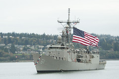 USS Ingraham (FFG 61) prepares to return to its homeport of Naval Station Everett Oct. 30. (U.S. Navy/MC2 Jeffry A. Willadsen)