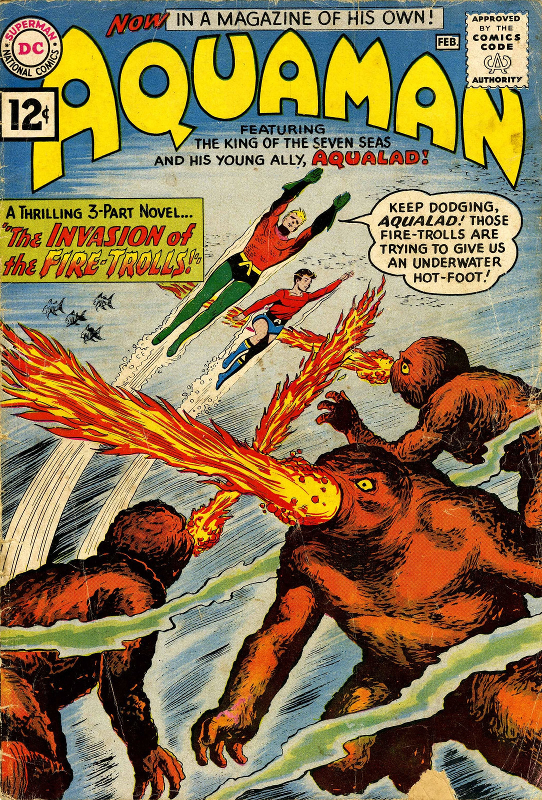 Aquaman #1 (DC, 1962) Howard Purcell Cover