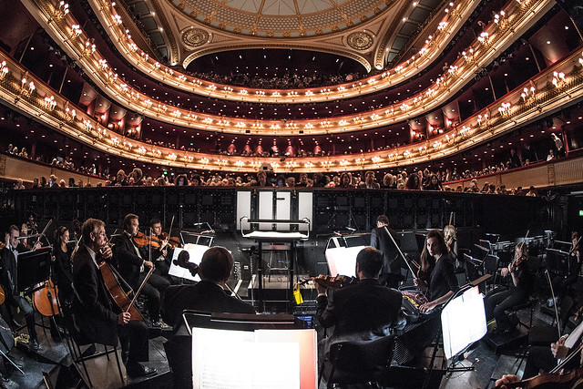 The view from the main stage Orchestra Pit at the Royal Opera House © ROH/Sim Canetty-Clarke, 2014
