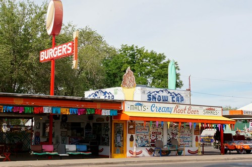 Snow Cap Drive-in, Route 66, Seligman, Arizona