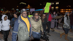 Solidarity march for Michael Brown in response to the Ferguson grand jury decision