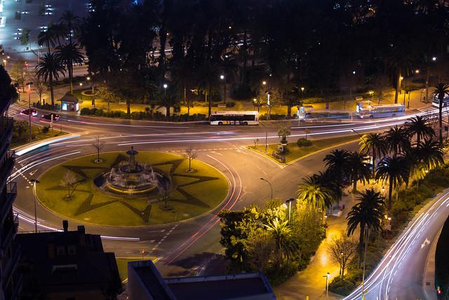 Malaga At Night - Long Exposure