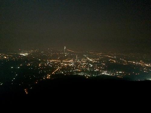 남한산성에서 바라본 송파