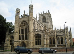 The Church of St Mary, Beverley, Yorkshire, East Riding, England (from the west, southwest)