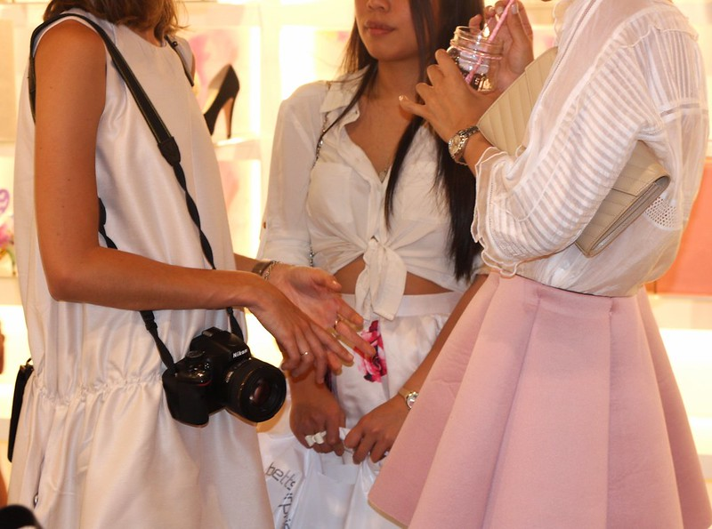 Bloggers at store opening
