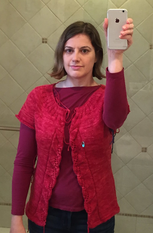 Red Cardigan Selfie