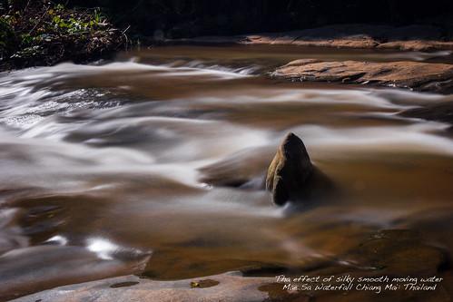 water thailand flow waterfall exposure chiangmai
