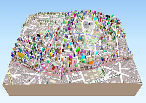 Paris in 3D with QGIS and three js – —-