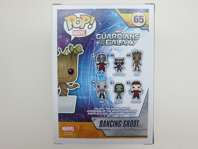 Funko Pop Dancing Groot - Box Back