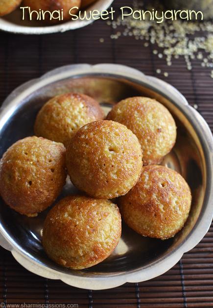 Thinai Sweet Kuzhi Paniyaram