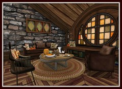 Fall's Cabin in the Woods | Living Room