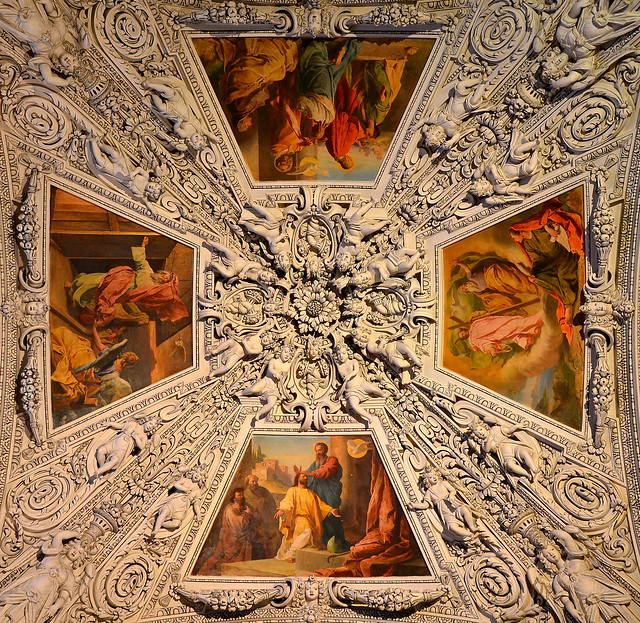 Fragment of a ceiling in the Salzburg cathedral