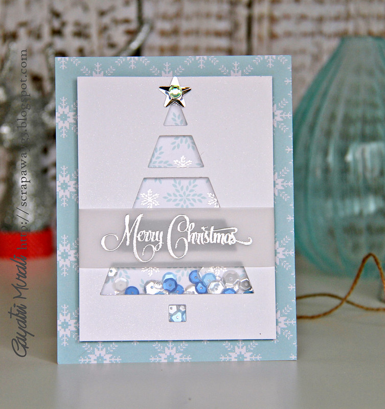 Blue merry christmas card2