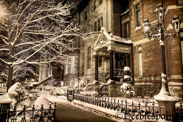 Winter on Dearborn foto imagine superba iarna poza zapada Chicago SUA FLICKR