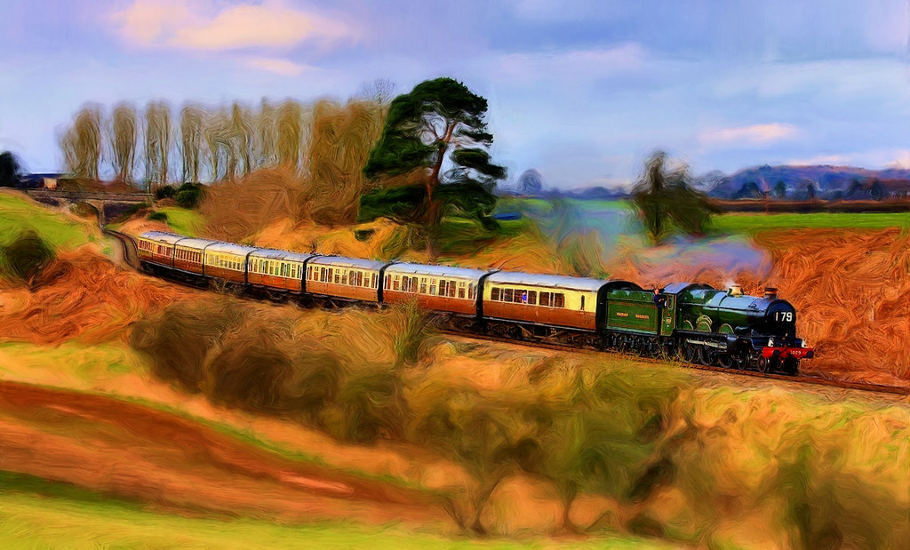 5029 'Nunney Castle; Photo Painting