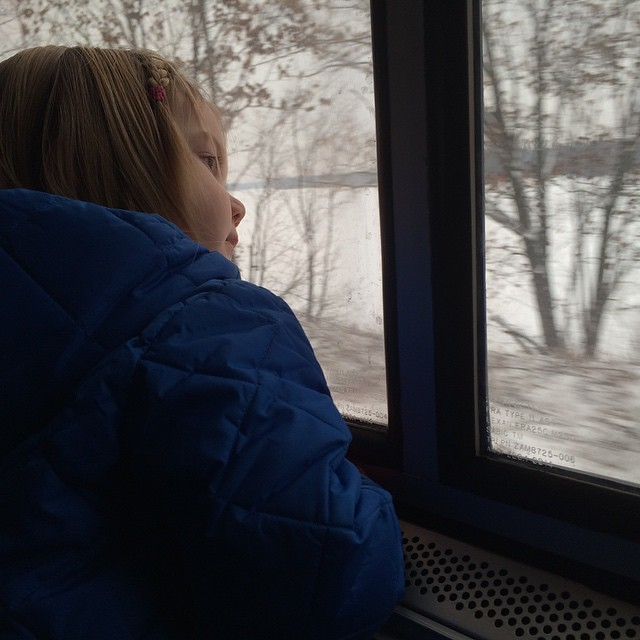 Watching the river go by. #winterbreak2014 #amtrak