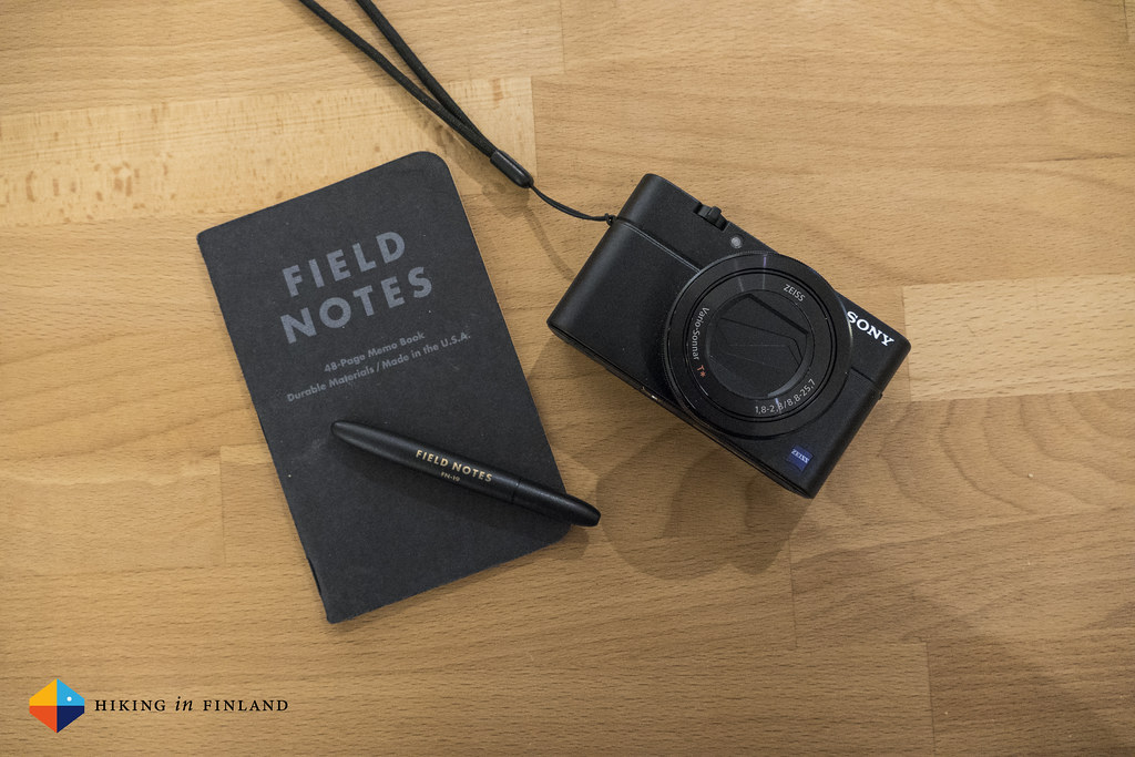 Sony RX100III Size Comparison with a Field Notes notebook