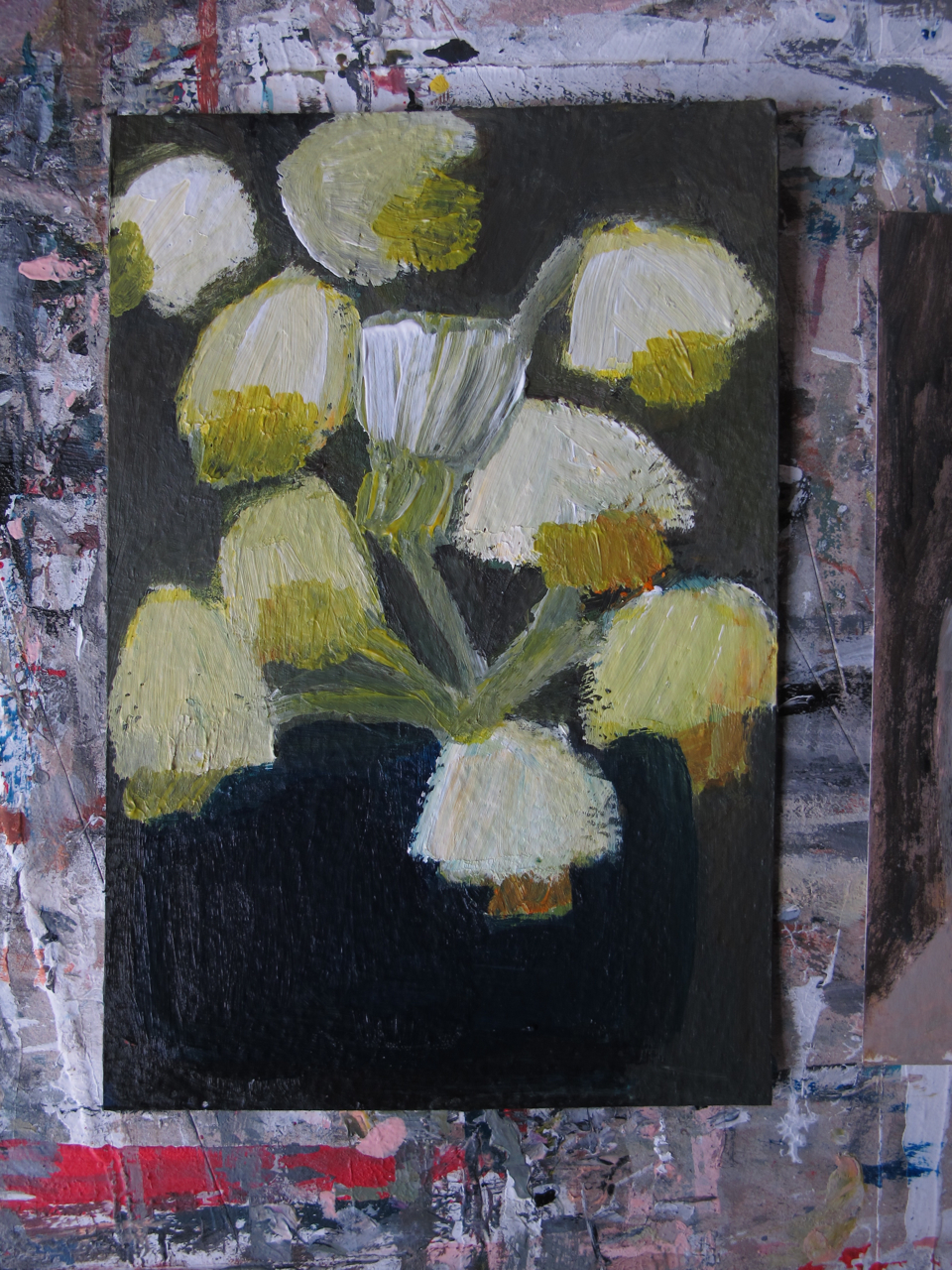 smaller painting - daffodils