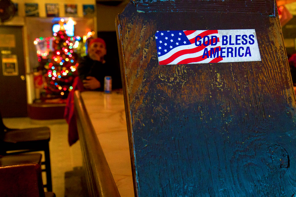 GOD-BLESS-AMERICA-sticker-in-Bentley's-Place--Kensington