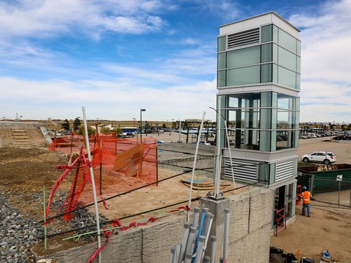 Photo of elevator installation at 40th and Airport Station