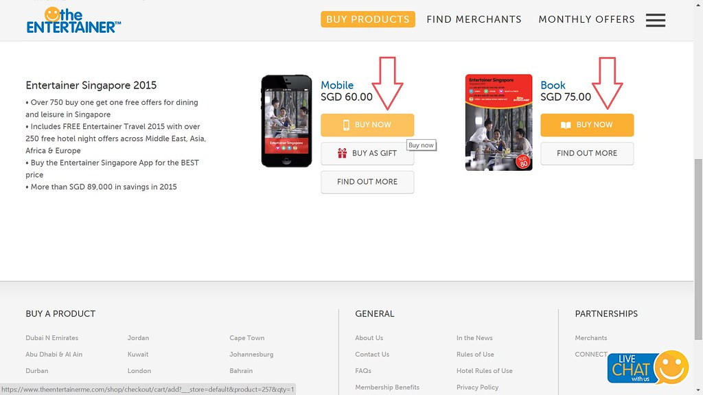 Click on the product you wish to buy: App or Book