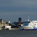 Small photo of Stena Lagan Passing The Pier Head