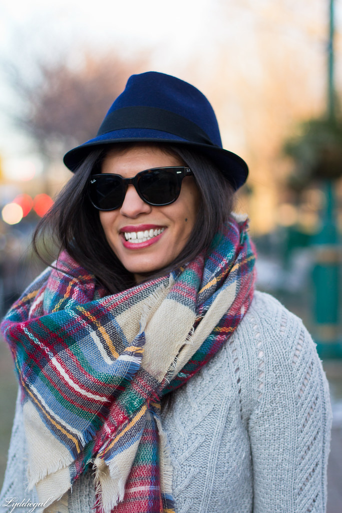 grey sweater, plaid scarf, wool fedora-5.jpg