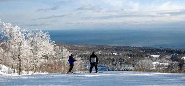 Lutsen Mountains and Lake Superior