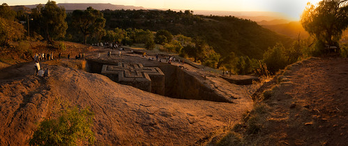 africa travel sunset panorama church monument rock zeiss 35mm landscape religious cross pano sony prayer christian unesco holy fe ethiopia alpha pilgrimage a7 orthodoxchristian stich lalibela mountainous newjerusalem heritagesite rockhewn churchofsaintgeorge sonnartfe35mmf28za
