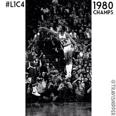 "Dr. Blockenstein? Using his 48"" vert for D instead of dunking during the 1980 NCAA Championship game. Original photo by Jebb Harris for @courierjournal Follow @uoflsports and @uoflmbb #L1C4"
