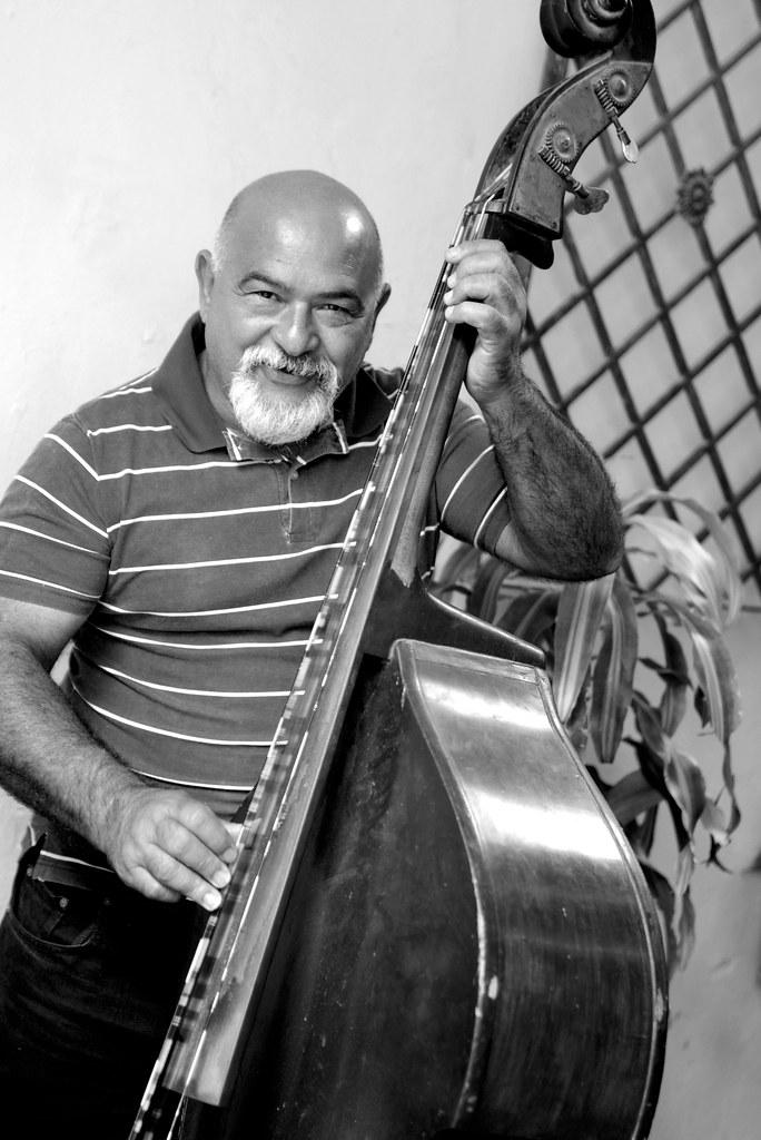 Músicos de un restaurante de la Habana en Cuba