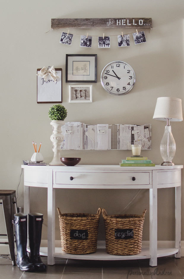Front Entry Styled and Organized Console Table