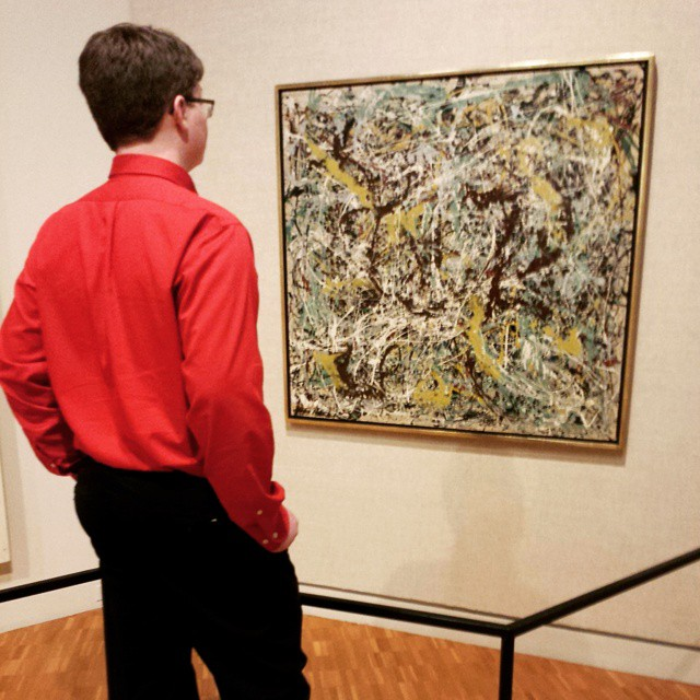 Oh, you know, just looking at a little Pollock on a Saturday afternoon, nbd! #indianauniversity