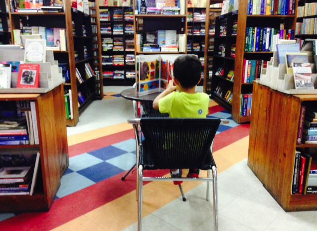 My little bookworm.