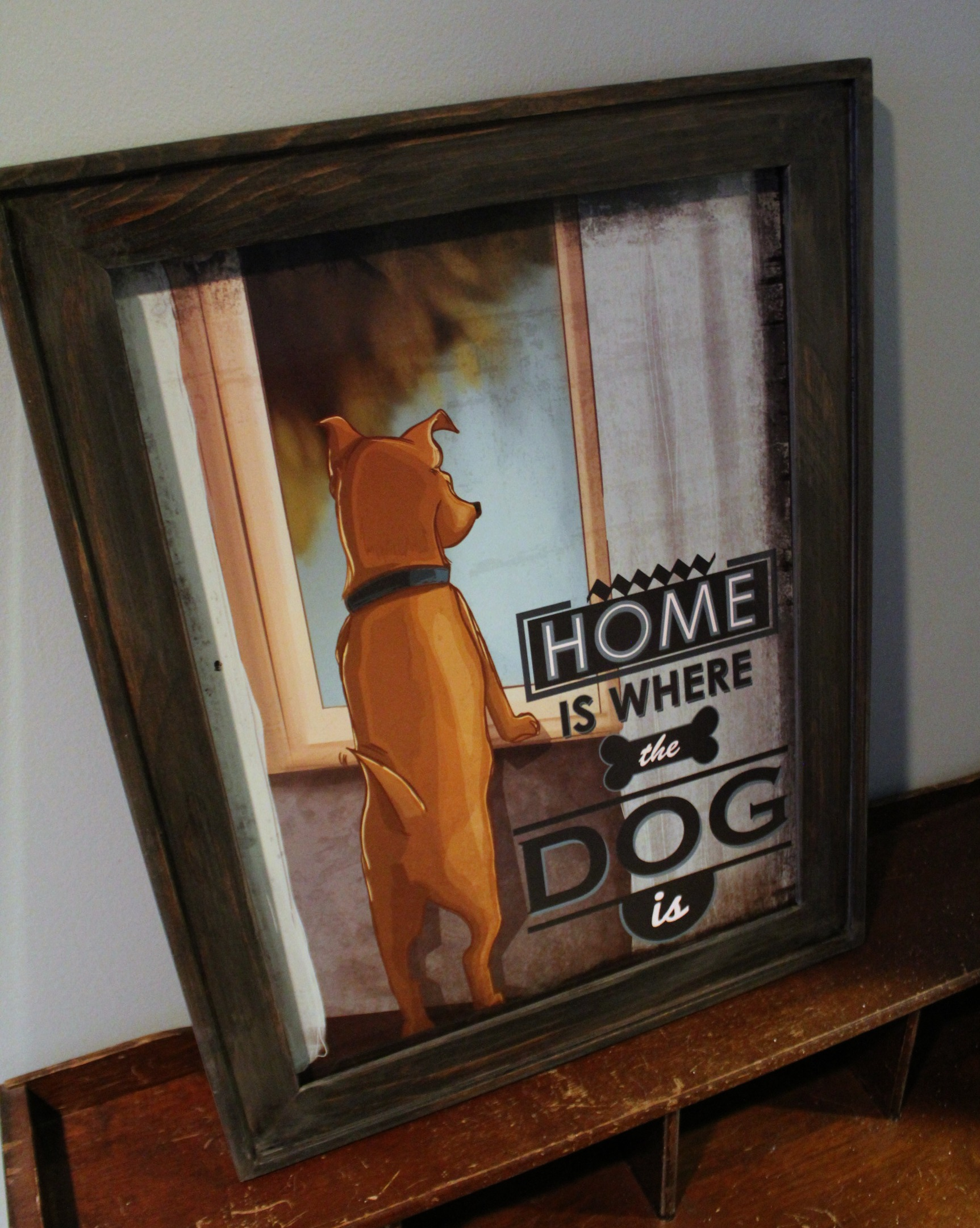 Home is where the dog is - framed