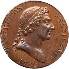 Lot 53 1792 Washington Roman Head Cent obverse