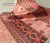 Salmon Kaleidoscope fabric samples