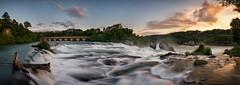 Sunset at the Rhine Falls