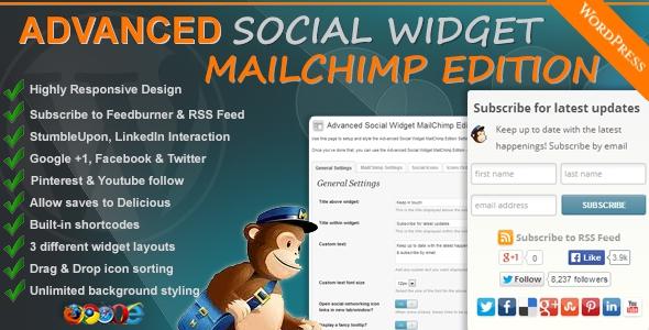 Advanced Social Widget MailChimp Edition v3.1.3