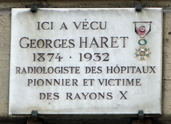 Photo of Georges Haret marble plaque