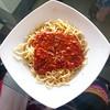Spaghetti meat sauce :fork_and_knife: :spaghetti:  . . . . Food #Foodporn #Foods #Instafood  #Foodpornography #Instafoodapp #Likesforlikes #Foodstagram #Instafoodie #Likesreturned #Foodphotography #Foodie #Likes4likes #Foodphoto #Foodies #Foodspotting #Li