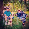 Ed and Tudy Hoffman, listening to a  performance in the Summer Concert series put on by the Washington  County Arts Council, along with Lenny, the shih tzu, and Buddy, a poodle-cocker spaniel mix. #nashvilleil #washingtoncountyil #summerconcerts #summerco