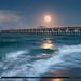 Full Moon Over Juno Beach Pier by Captain Kimo
