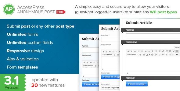 AccessPress Anonymous Post Pro v3.1.2