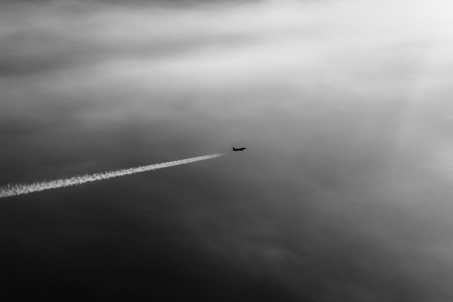 Jet plane from above
